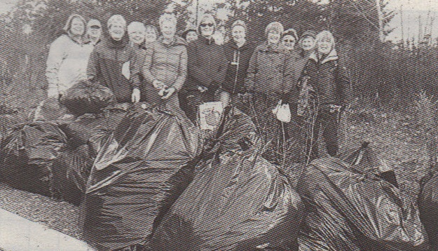 Shuswal Lady Striders pick up garbage