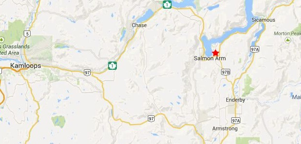 Map to Salmon Arm